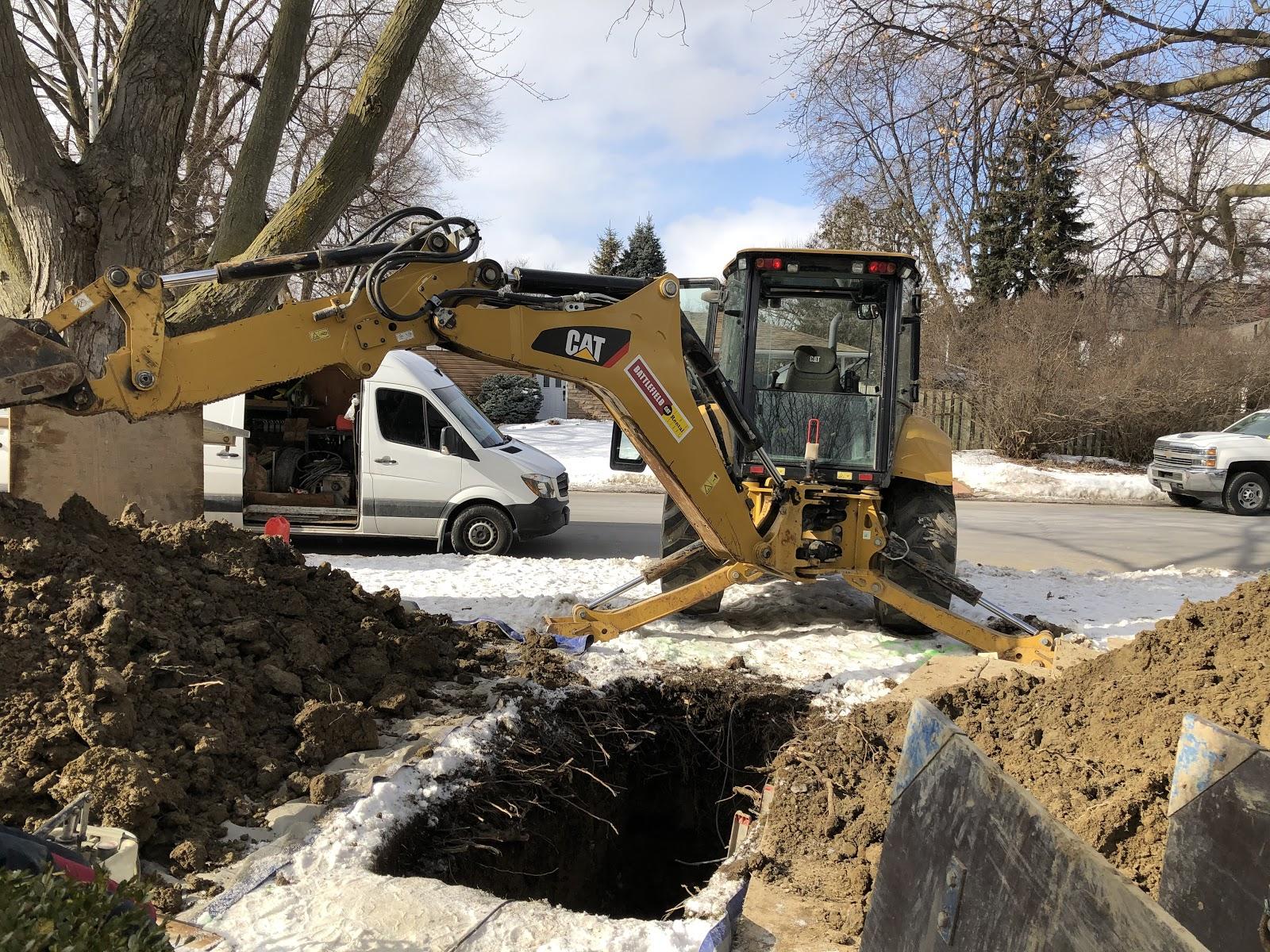 Drain excavation